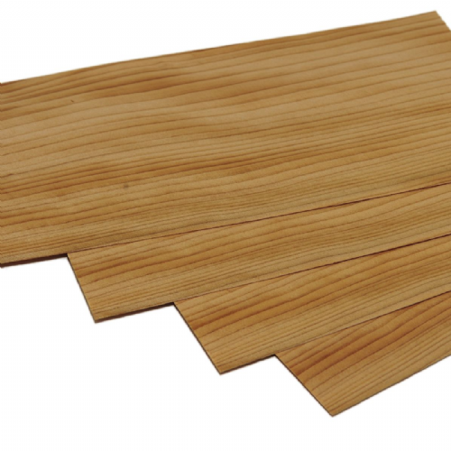 Cedar of Lebanon veneer <br /> Set of 4 leafs: <br />11.5&quot; x 5.5&quot; ( 30 x 14 cm )